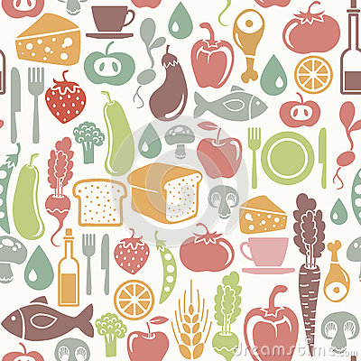 Free Healthy Food Pattern Stock Image - 27566601