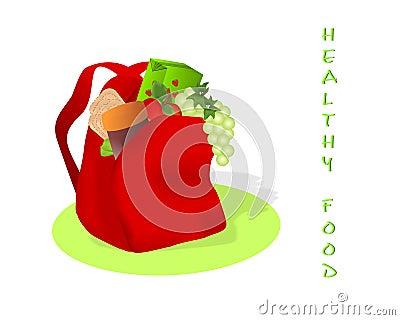 Healthy food for school, cdr vector