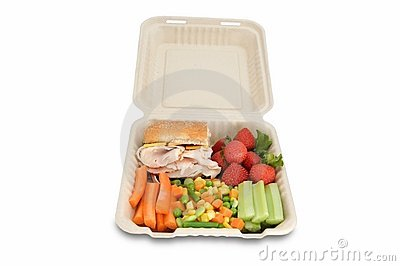Healthy food on togo lunchbox