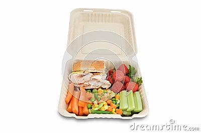Healthy food on togo lunchbox