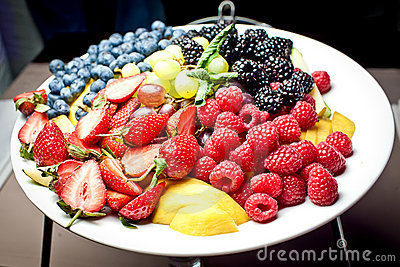 Healthy fresh fruits