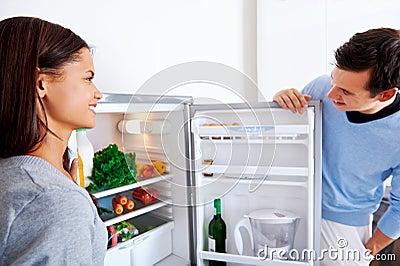 Healthy fridge couple