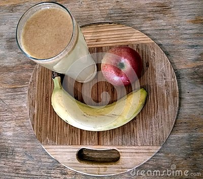 Healthy fruit breakfast Stock Photo