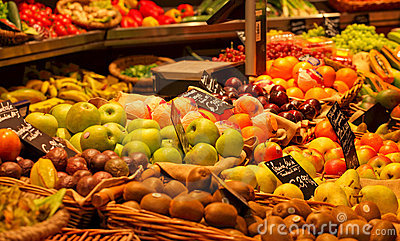 Healthy fruit stand