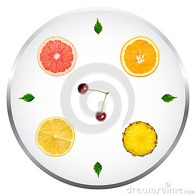 Healthy Fruits Diet Concept