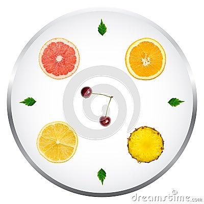 Healthy Fruits Diet Concept