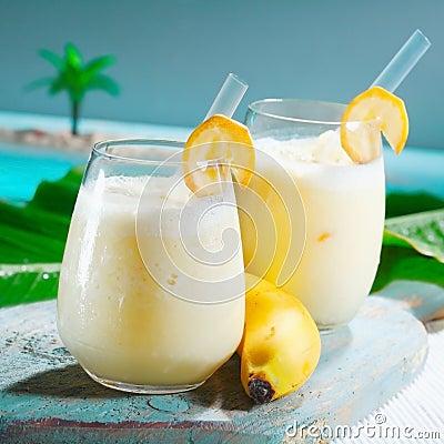 Healthy fruity banana smoothie