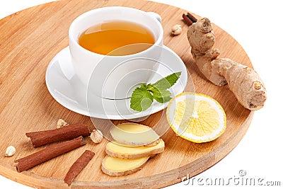 Healthy ginger tea
