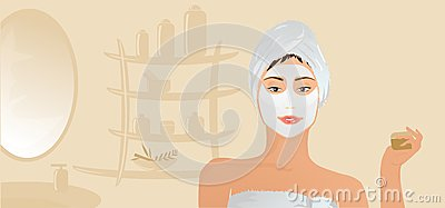 Healthy Girl With Facial Mask