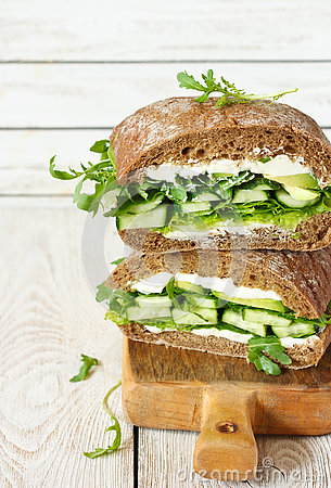 Free Healthy Green Sandwich. Royalty Free Stock Photography - 74133637