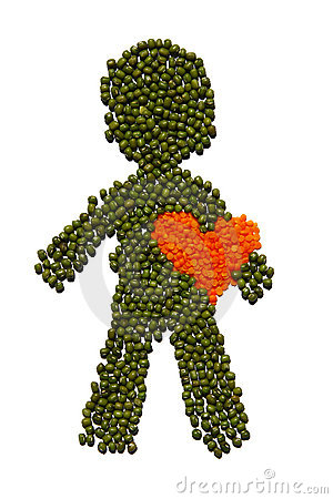 Free Healthy Guy Wth Red Heart Royalty Free Stock Images - 6224069