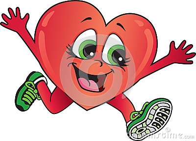 Healthy heart running