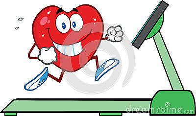 Healthy Heart Running On A Treadmill