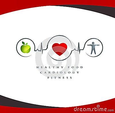 Healthy heart symbol
