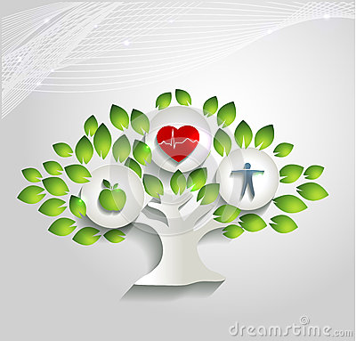 Free Healthy Human Concept, Tree And Health Care Symbol Stock Photo - 36726430