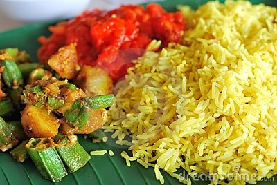 Healthy Indian vegetarian set meal