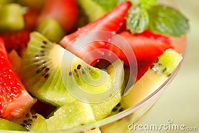 Healthy kiwi fruit and berries