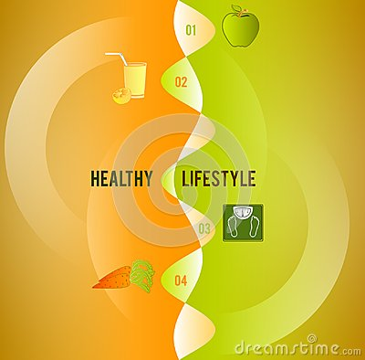 Healthy lifestyle concept cover backdrop ad brochure Vector Illustration