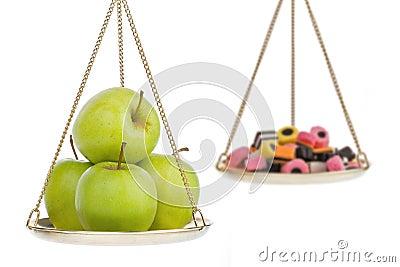 Healthy lifestyle metaphor