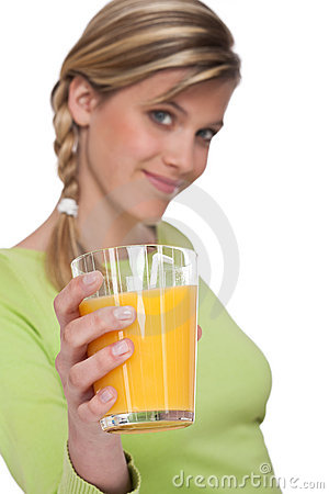 Healthy lifestyle series - Glass of orange juice