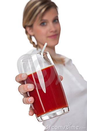 Healthy lifestyle series - Glass of tomato juice