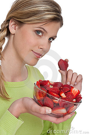Healthy lifestyle series - Woman with strawberries