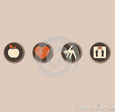 Healthy lifestyle symbols