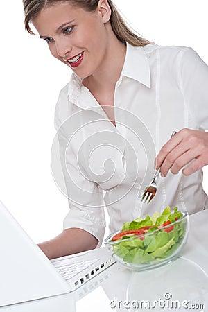 Healthy lifestyle  - Woman having lunch break