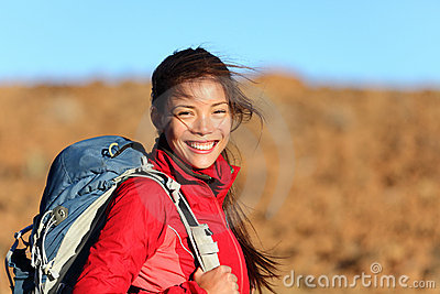 Healthy lifestyle woman smiling outside