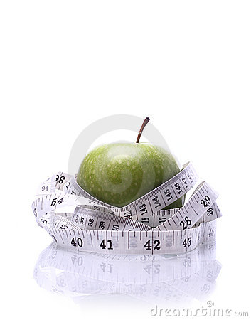 Healthy Living-Apple being measured