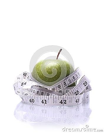 Healthy Living-Apple being measured