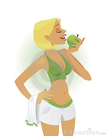 Healthy living girl vector