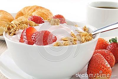 Healthy low fat breakfast