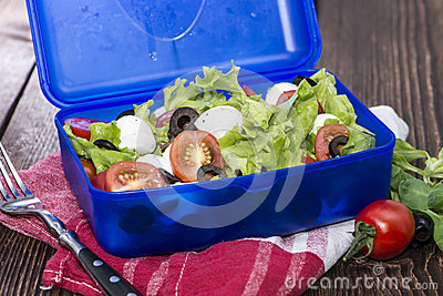 Healthy Lunchbox with fresh Salad