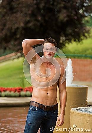 Healthy male model