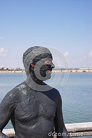 Healthy Man at Mud Spa