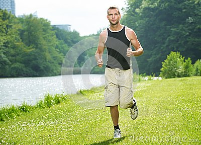 Healthy Man Running