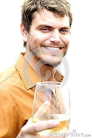 Healthy Man Smirking