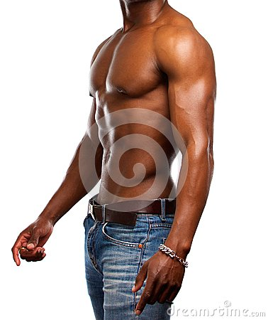 Free Healthy Muscular Man With No Shirt Stock Photos - 52165523