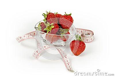 Healthy nutrition strawberry
