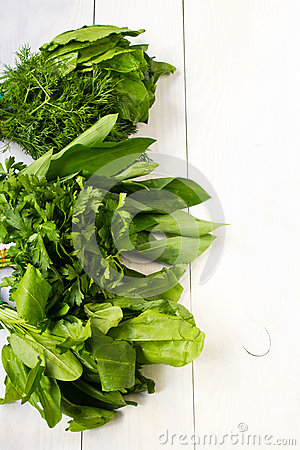 Free Healthy Organic Heap Of Fresh Salad On A Wooden Design White Bac Stock Photos - 31082023