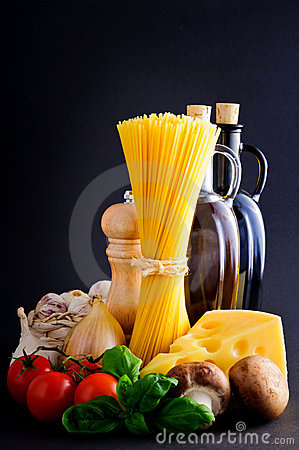 Healthy pasta ingredients
