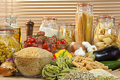 Healthy Pasta, Vegetables, Rice, Grain & Olive Oil