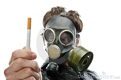 A healthy person refusing to smoke