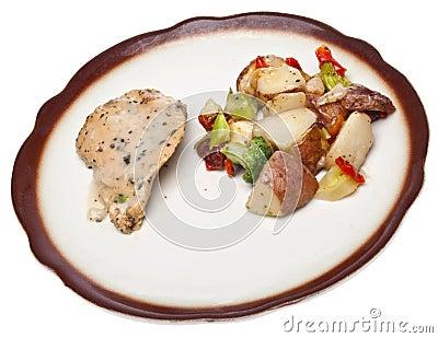 Healthy Portion Chicken Dinner