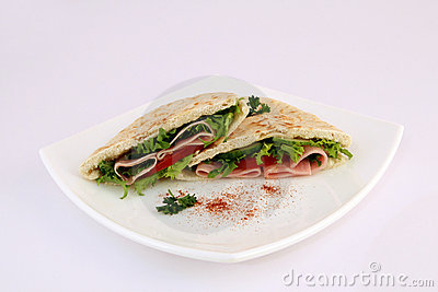 Healthy salad sandwich meal served on a plate