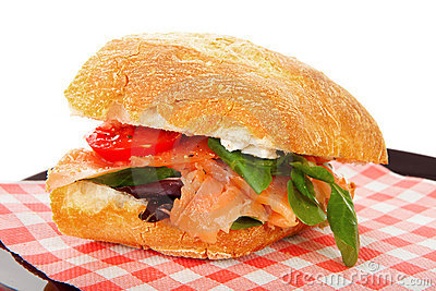 Healthy sandwich on napkin