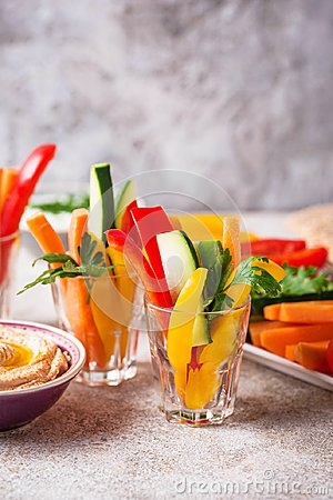Free Healthy Snacks. Vegetables And Hummus Royalty Free Stock Images - 122228079