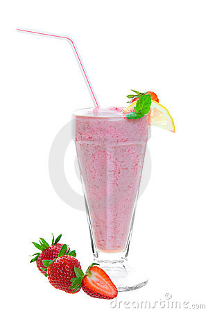Free Healthy Strawberry Smoothie Royalty Free Stock Image - 13828546