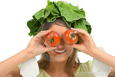 Healthy tomato eyeglasses